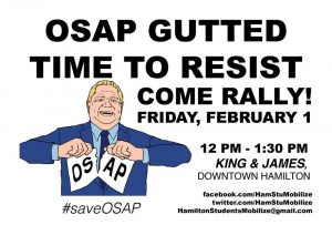 OSAP Gutted- Time to Resist @ Gore Park